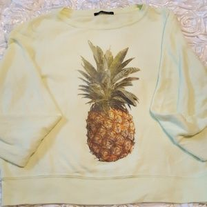 🍍Wildfox yellow soft pineapple jumper sweatshirt